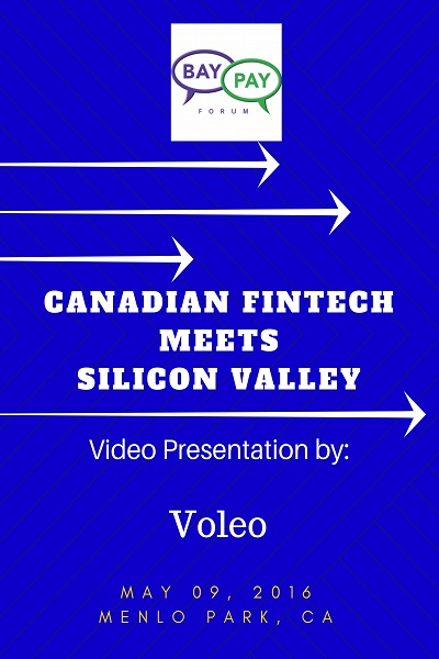 Canadian Fintech Meets Silicon Valley: Video Presentation from Voleo (2016)