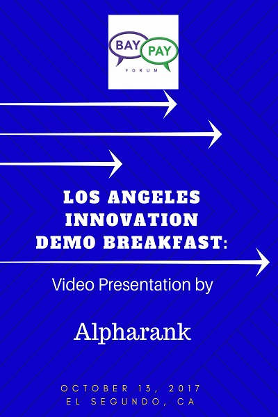 Los Angeles Innovation Demo Breakfast - Video Presentation by Alpharank (2017)