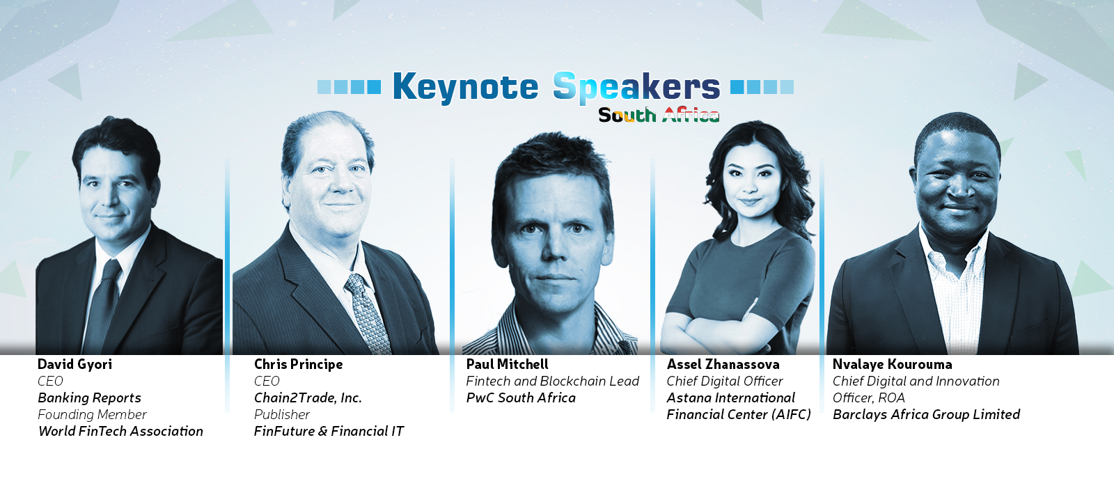 Finnovation South Africa Keynote Speakers