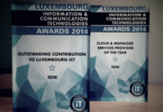 Luxembourg ICT Awards 2014: EBRC won two awards: Cloud & Managed Services Provider of the Year Outstanding Contribution to Luxembourg ICT