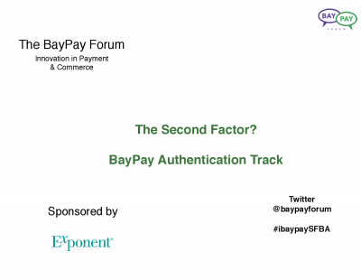 Presentations from our event on Authentication and Identity held Mar 6 in Menlo Park, CA