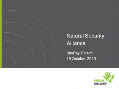 Natural Security Alliance Presentation from BayPay event on Authentication, October 15, 2013 in San Francisco